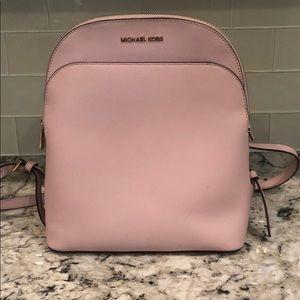 Blush Pink Michael Kors Backpacl Purse